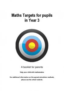 Maths Targets for pupils in Year 3
