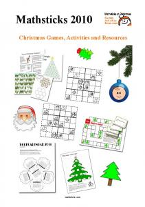 Mathsticks 2010 Christmas Games, Activities and Resources