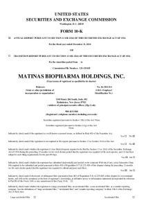 MATINAS BIOPHARMA HOLDINGS, INC