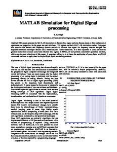 MATLAB Simulation for Digital Signal processing