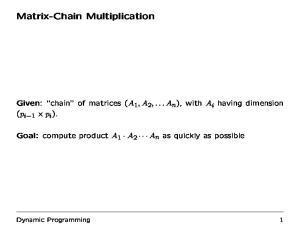 Matrix-Chain Multiplication