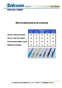 Matriz de aplicaciones de los conectores