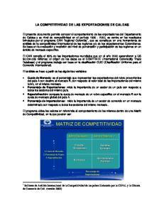 MATRIZ DE COMPETITIVIDAD