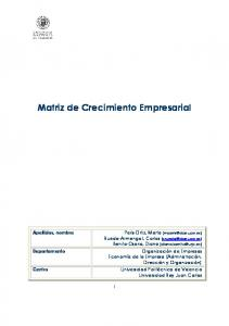 Matriz de Crecimiento Empresarial