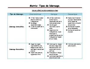 Matriz: Tipos de liderazgo