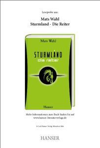 Mats Wahl Sturmland - Die Reiter