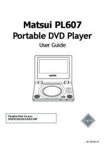 Matsui PL607 Portable DVD Player