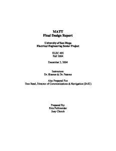 MATT Final Design Report