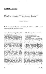 Matthew Arnold: The Dandy Isaiah
