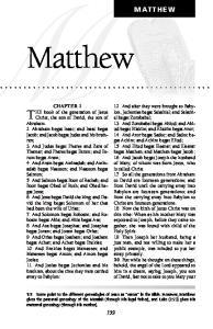 MATTHEW. Matthew