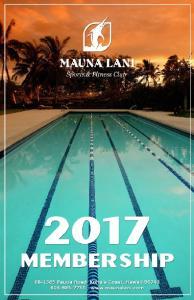 MAUNA LANI SPORTS & FITNESS CLUB MEMBERSHIP