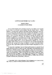 MAURICIO BACARISSE Y EL TEATRO