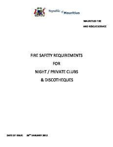 MAURITIUS FIRE AND RESCUE SERVICE
