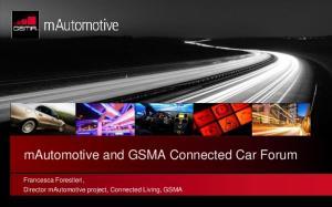 mautomotive and GSMA Connected Car Forum