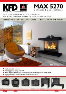 MAX 5270 INNOVATIVE SOLUTIONS MODERN DESIGN. unlimited possibilities