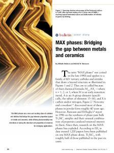 MAX phases: Bridging the gap between metals and ceramics