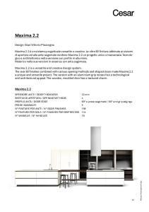 Maxima 2.2. Maxima 2.2. Design: Gian Vittorio Plazzogna