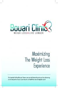 Maximizing The Weight Loss Experience