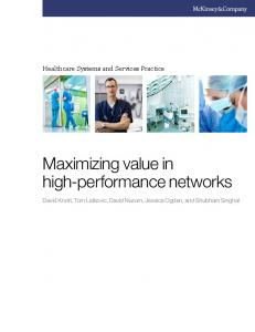 Maximizing value in high-performance networks