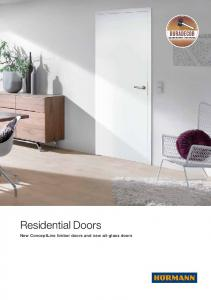 MAXIMUM IMPACT RESISTANCE. Residential Doors. New ConceptLine timber doors and new all-glass doors