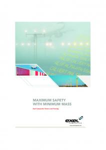 MAXIMUM SAFETY WITH MINIMUM MASS. Exel Composite Towers and Fencing