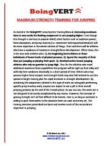 MAXIMUM STRENGTH TRAINING FOR JUMPING