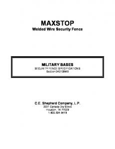 MAXSTOP Welded Wire Security Fence