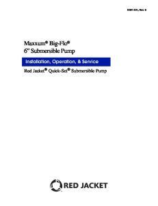 Maxxum Big-Flo 6 Submersible Pump