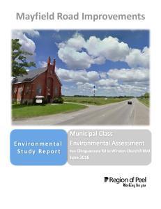 Mayfield Road Improvements. Environmental Study Report