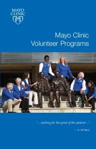 Mayo Clinic Volunteer Programs