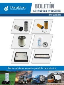 MAYO- JUNIO Nuevas adiciones a nuestro portafolio de productos