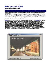 MBControl 2004 Modellbahn-Steuerung