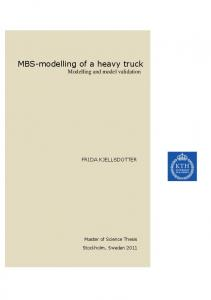 MBS-modelling of a heavy truck Modelling and model validation