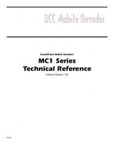 MC1 Series Technical Reference