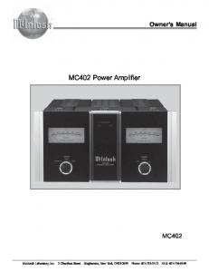 MC402 Power Amplifier