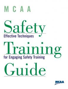 MCAA. Safety. Effective Techniques. Training. for Engaging Safety Training. Guide