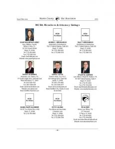 MCBA Members & Attorney Listings