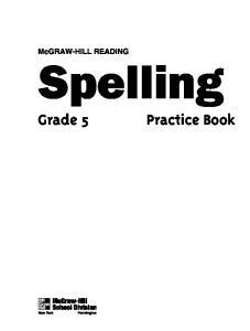 McGRAW-HILL READING. Spelling