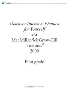 McGraw-Hill Treasures First grade. and