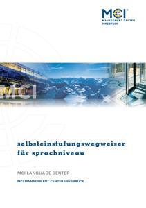 MCI LANGUAGE CENTER MCI MANAGEMENT CENTER INNSBRUCK