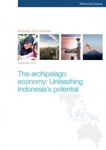 McKinsey Global Institute. September The archipelago economy: Unleashing Indonesia s potential