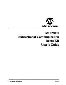 MCP2030 Bidirectional Communication Demo Kit User s Guide