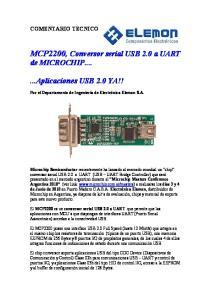 MCP2200, Conversor serial USB 2.0 a UART de MICROCHIP