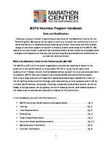 MCPA Volunteer Program Handbook
