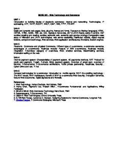 MCSE Web Technology and Commerce