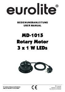 MD-1015 Rotary Motor 3 x 1 W LEDs