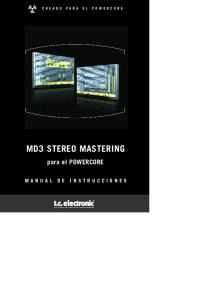 MD3 STEREO MASTERING