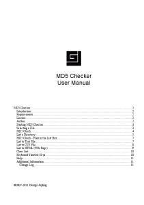 MD5 Checker User Manual