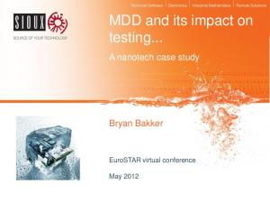 MDD and its impact on testing