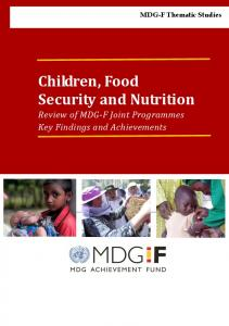 MDG-F Thematic Studies Children, Food Security and Nutrition